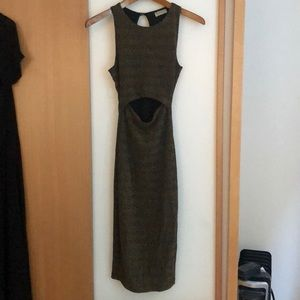 Bodycon Black and gold dress